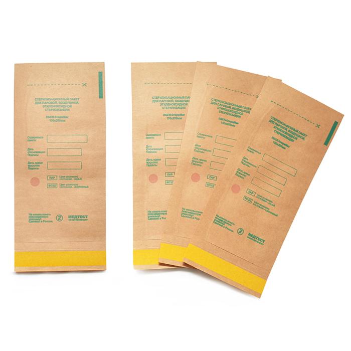 Крафт пакеты 100*200мм (коричневые) СтериМаг /1шт