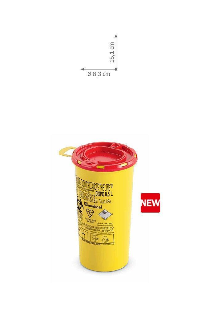 Контейнер для сбора иголок и медицинских отходов 0,5 л