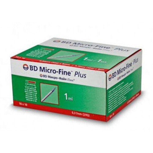 Шприц инсулиновый BD Micro-Fine U-40 1 мл игла0,3 x8мм