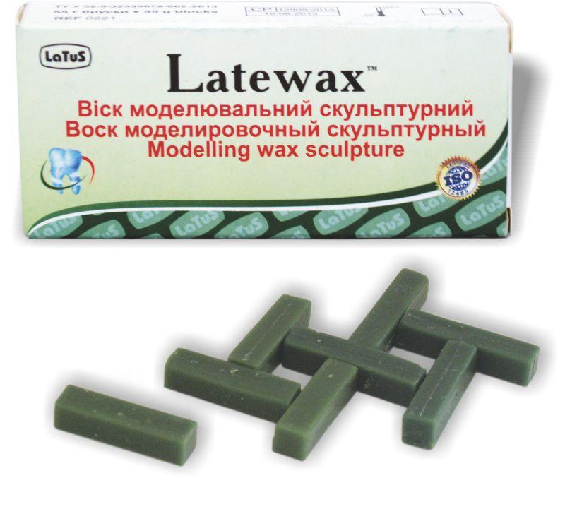 Воск Латевакс (зелений) скульптурный