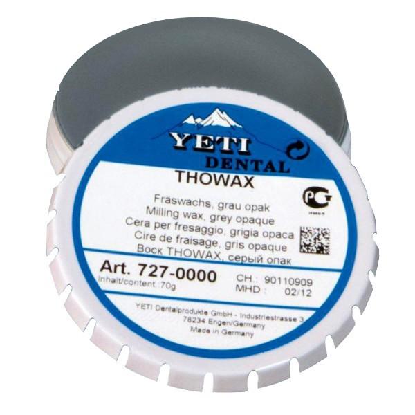 Воск Thowax Yeti 727-0000 серый фрезеровальный