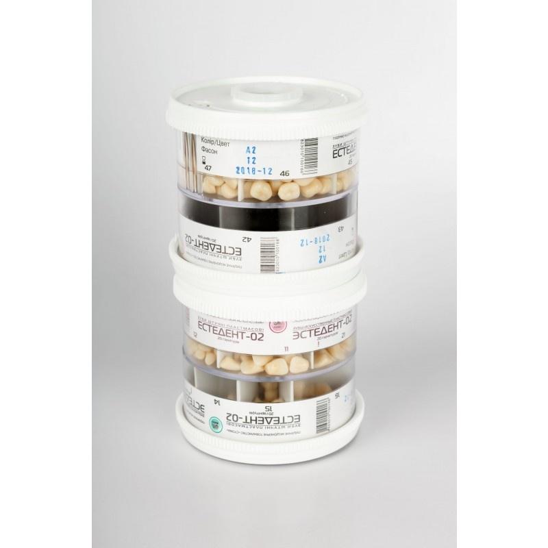 Гарнитур жевательных зубов в барабанах ( 40 гарнитур)