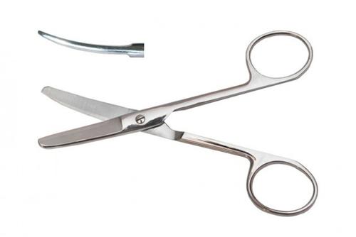 Ножницы тупоконечные вертикально-изогнутые17см №201798