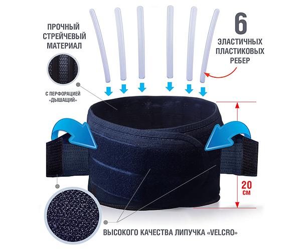 Пояс корсетный ортопедический КПО-6М