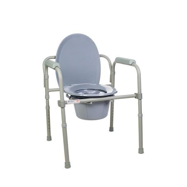 Стілець-туалет металевий, складаний, регульований.