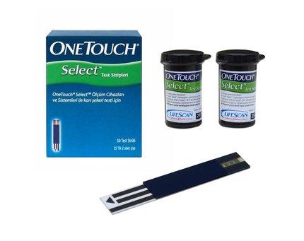 Тест-полоски One Touch Select,  50 шт