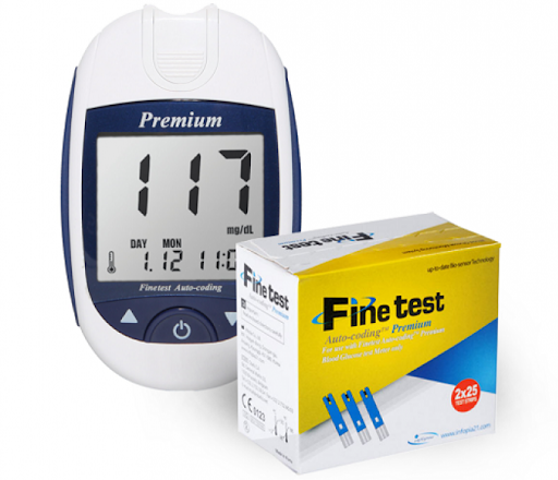 Глюкометр Finetest Аuto-Сoding Premium +25 тест смужок
