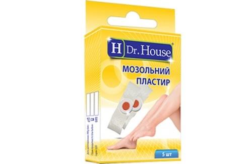 Набор мозольных пластырей Dr.House, 5шт