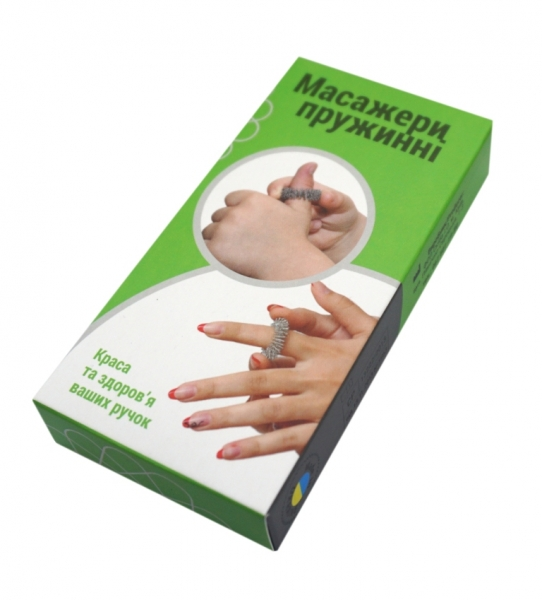 Набір масажних пружин на палець, в комплекті 3шт