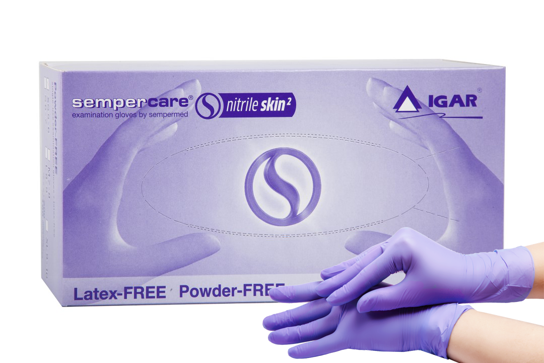 Перчатки  нитриловые, нестерильные, б/п Sempercare Nitrile,1 п