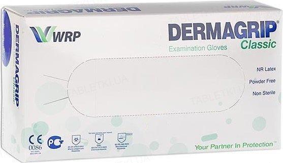 Перчатки текстурированные без пудры Dermagrip Classik, 1 пара
