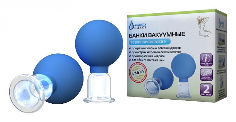 Банки сухие вакуумные полимерно-стеклянные №2