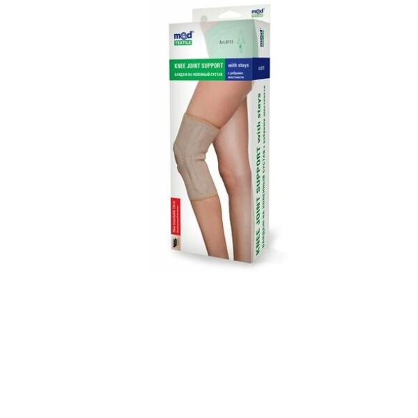Бандаж на колінний  суглоб з ребрами жорсткості, Art. 6111 люкс