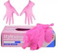Перчатки нитриловые Style цветные без пудры / 1п